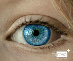 Na zdjęciu znajduje się niebieskie oko